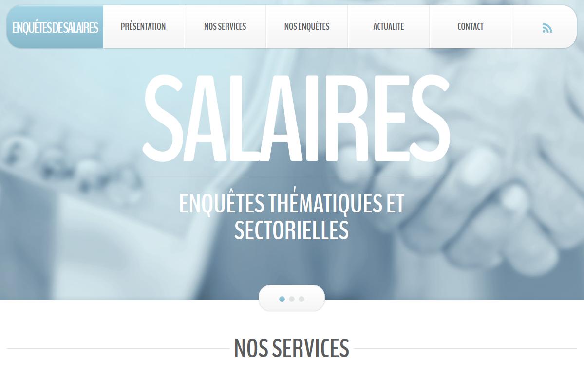 Site dédié aux enquêtes de salaires