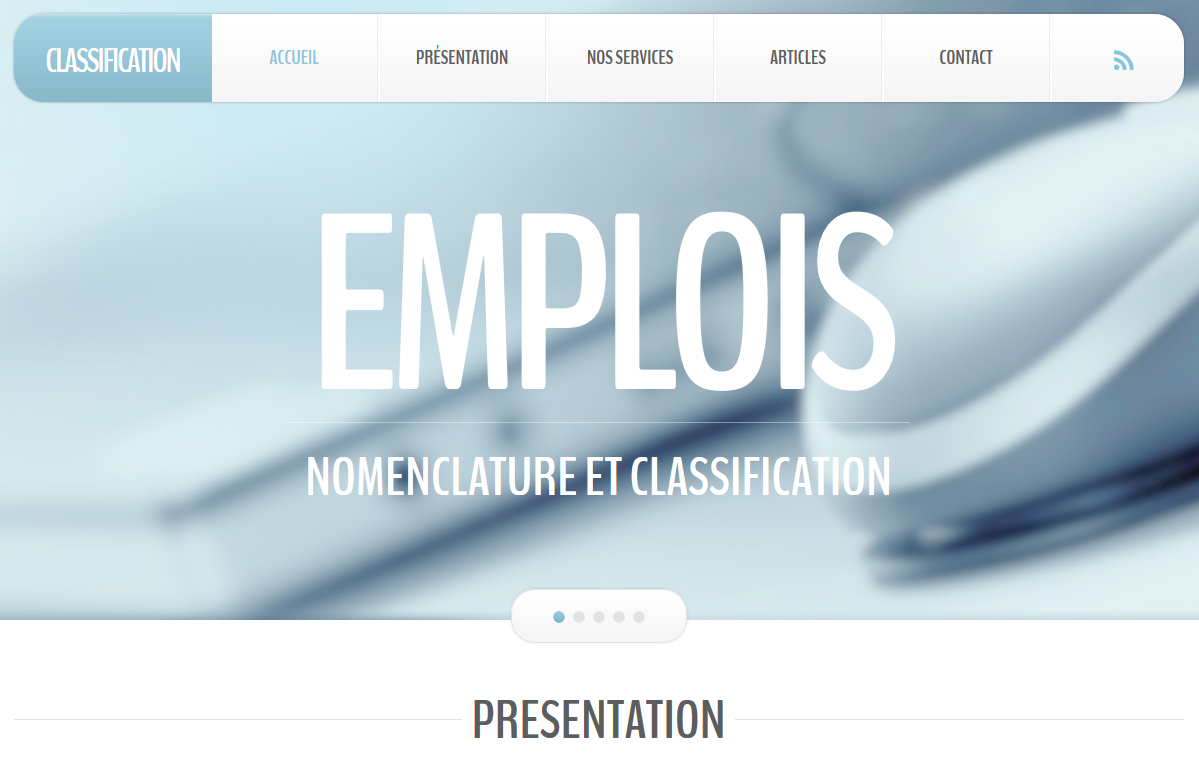 Site dédié à la classification des emplois