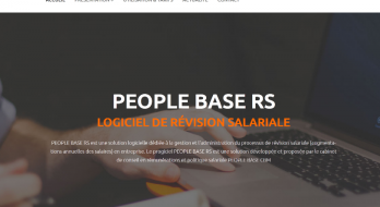 Nouveau site dédié à la présentation du logiciel PEOPLE BASE RS