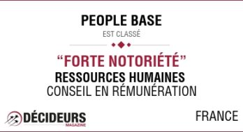 PEOPLE BASE élu parmi les meilleurs cabinets de conseil en ressources humaines en France !